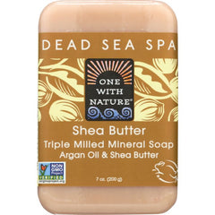 ONE WITH NATURE: Shea Butter Triple Milled Mineral Soap Bar, 7 oz