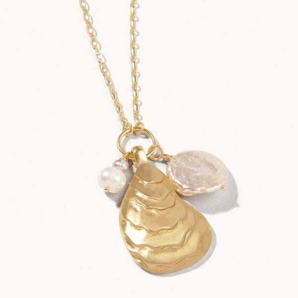 Oyster Charm Long Necklace