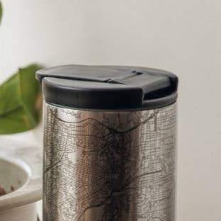 Charleston Insulated Map Tumbler Stainless Steel