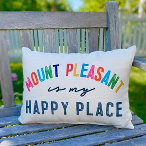 Mount Pleasant Happy Place Pillow