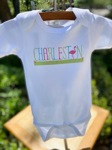 Charleston Flamingo Onesie