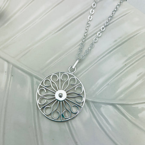 Wheel Gate Deluxe SP Necklace