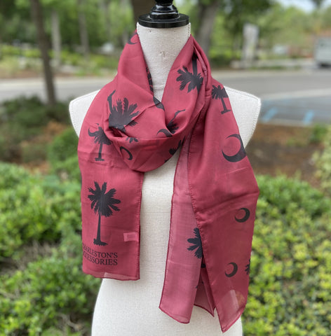 Palmetto Scarf Carolina Colors