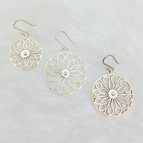 Wheel Gate SS Earrings 3 Sizes