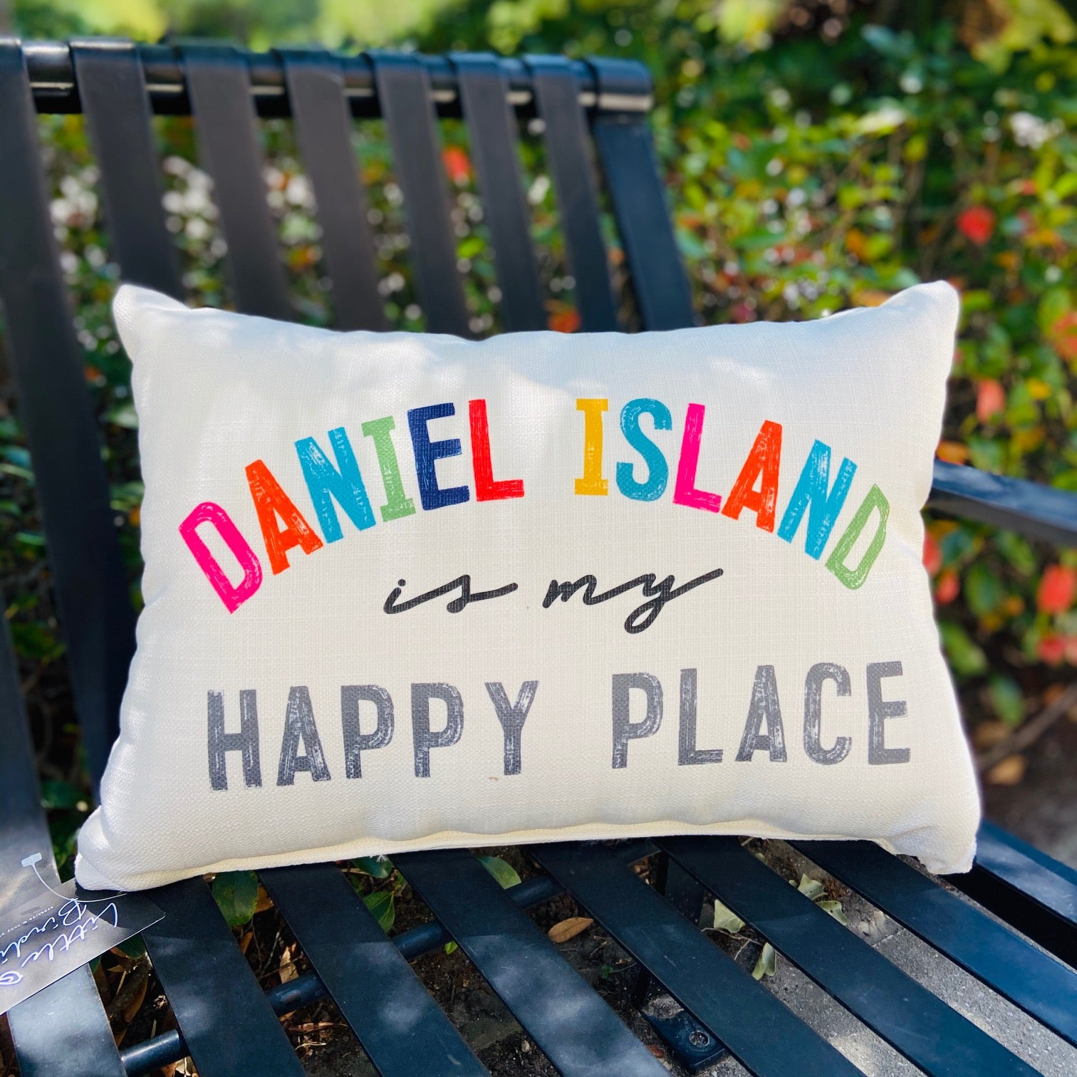 Daniel Island Happy Place Pillow