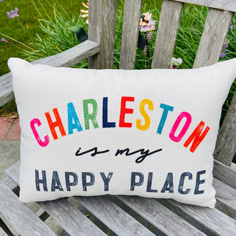 Charleston Happy Place Pillow