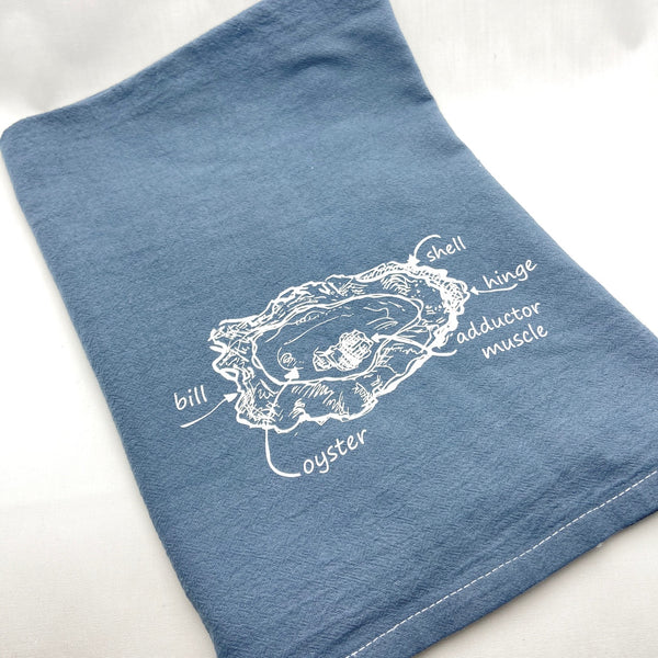 Oyster Anatomy Towel