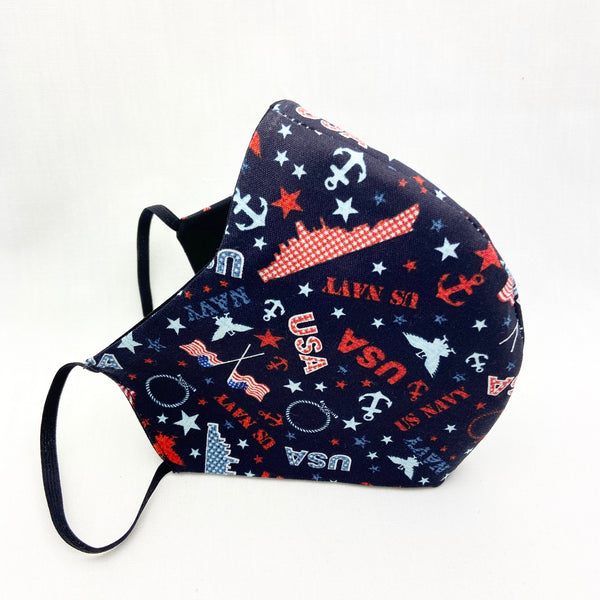 Men's NAVY Pride Fitted Mask