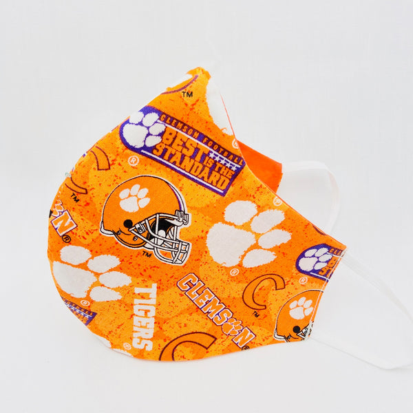 Clemson Orange Fitted Mask
