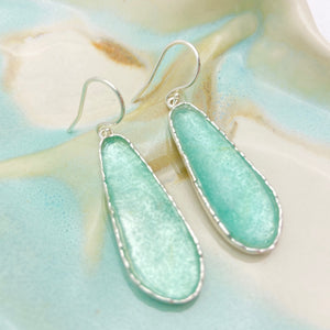 Roman Glass Large Oblong Earrings
