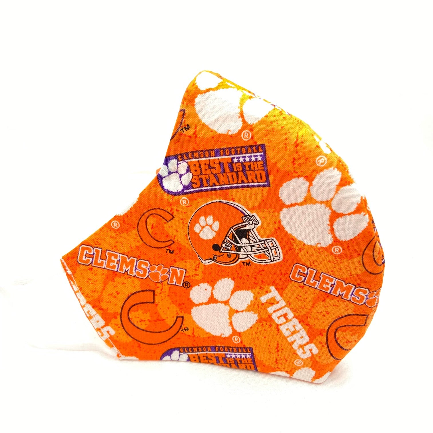 Men's Clemson Orange Fitted Mask