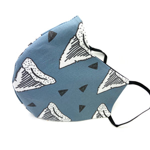 Men's Shark Teeth Blue Fitted Mask