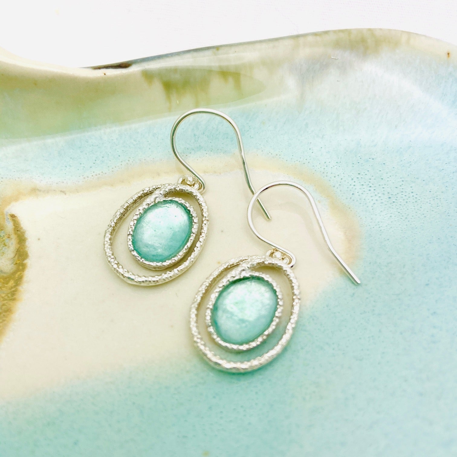 Roman Glass Swirl Earrings