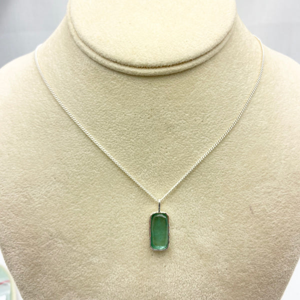 Roman Glass Rectangle Necklace