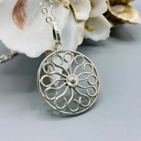 Wheel Gate Sterling Silver Necklace