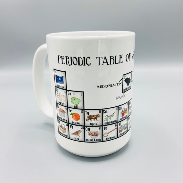 Periodic Table of South Carolina Mug