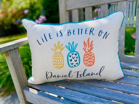 Life Is Better - Daniel Island Pillow
