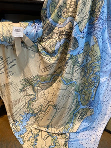 Charleston Nautical Map Throw