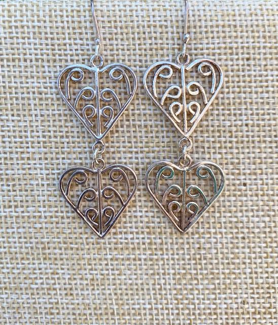 Double Heart SP Earrings