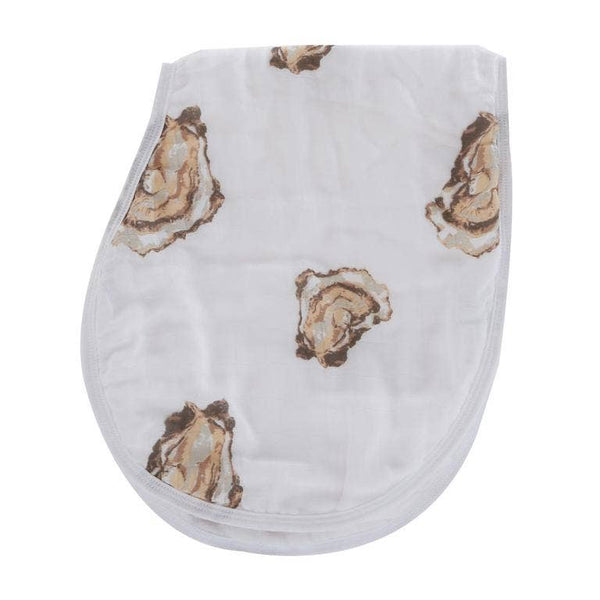 Oyster Burp and Bib Cloth