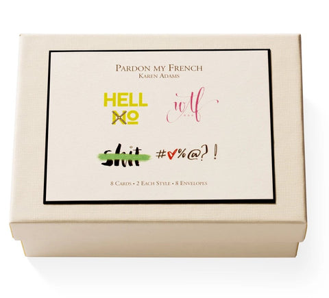 Pardon My French! Notecard Box