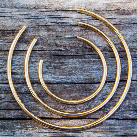 Alchemia Polished Hoops