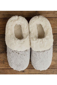 Lemon Tipped Fur Scuff Slippers
