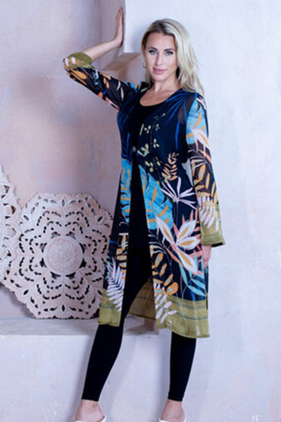 Artex Leaf Print Duster
