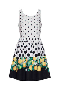 Smashed Lemon Dot Dress