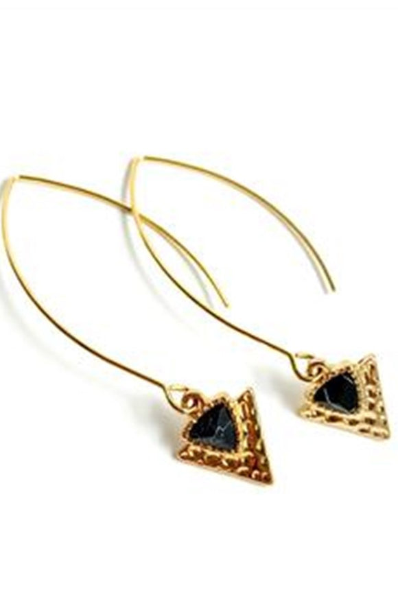 Motte;Jewelry Textured Triangle Earrings