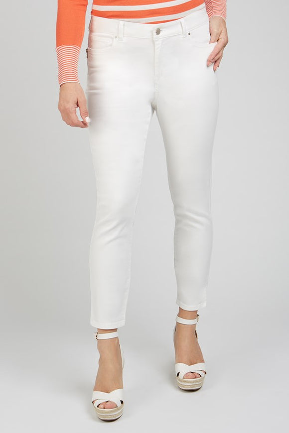 Renuar Off White Ankle Pant