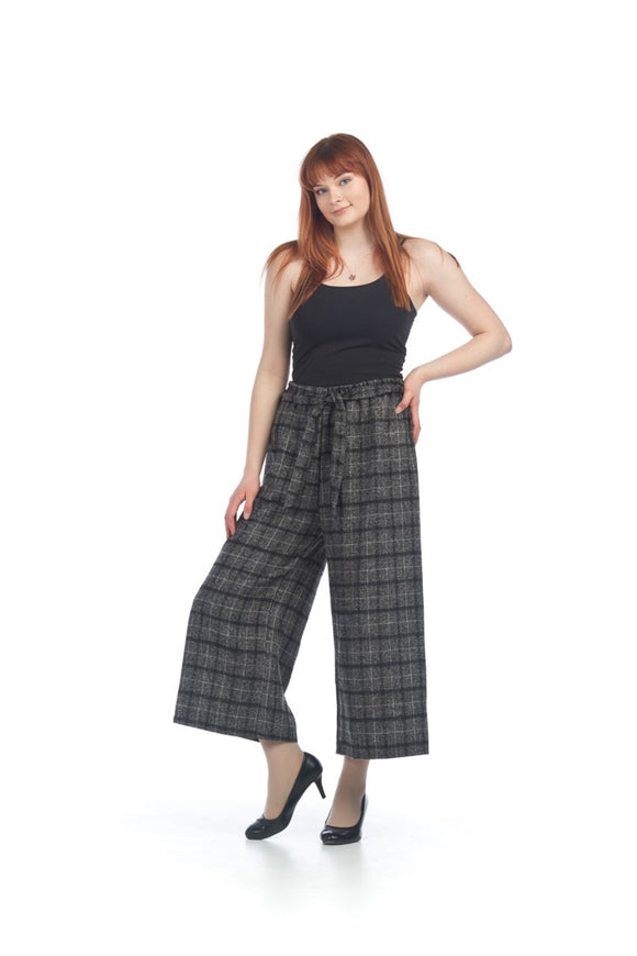 Papillon Wide Leg Check Pant