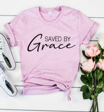 "Load image into Gallery viewer, ""Saved by Grace"" T-Shirt"