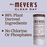 Mrs. Meyer's Clean Day Surface Scrub, Removes grime on Kitchen and Bathroom Surfaces, Non Scratching Powder, Lavender, 11 oz
