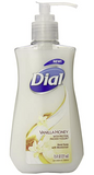 Dial Liquid Hand Soap, Vanilla Honey with Protein Packed Yogurt, 7.5 Fluid Ounces