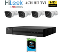 4CH HD TVI Bundle Package with 1TB HDD