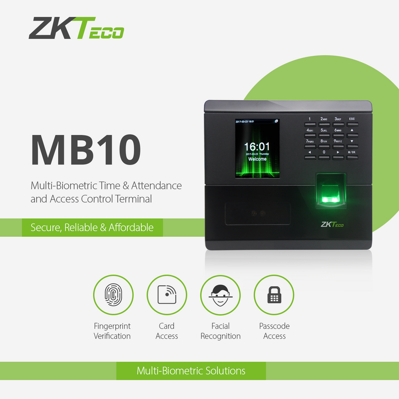 MB10 Multi Biometric Time & Attendance