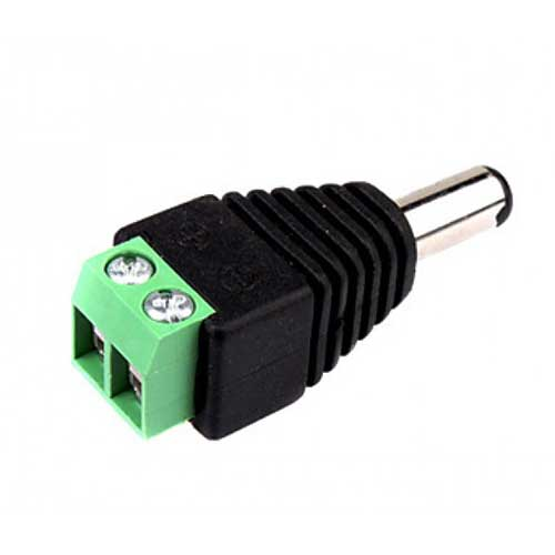 Male DC Plug With Terminal