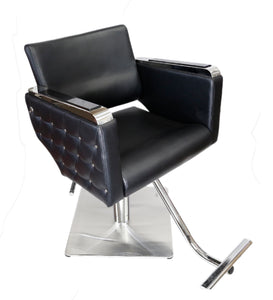 Euro Salon Chair With Stainless Steel Frame