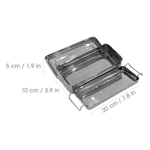 Stainless Steel Sterilization Tray   Small / Med / Large