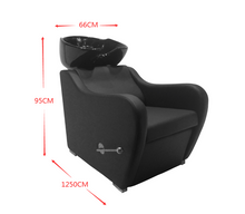 Load image into Gallery viewer, Shampoo Sink With Adjustable Sink, Extra Back Support, Adjustable Leg Rest
