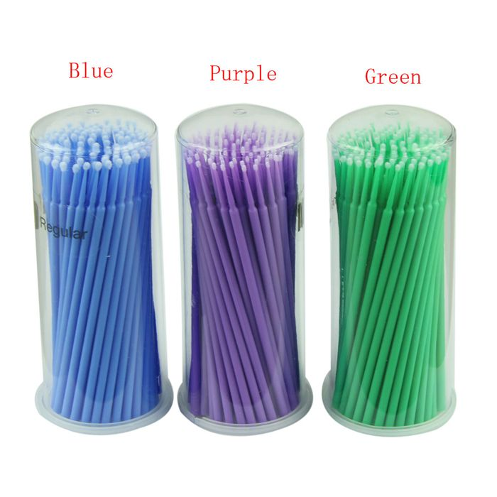 Disposable Micro Applicators Brushes 100pcs Reg/Fine/Ultra Fine (Colors Will Vary)