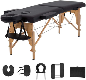 Super Stable Portable 2 Fold Massage Reiki Facial Table Bed Free Carrying Bag & Armrests