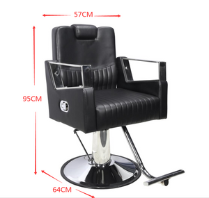 Model 9208 All Purpose Salon Chair, Hydraulic Adjustable Height, Reclinable Back Support