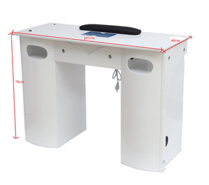 Modern Nail Table With Built In Vacuum