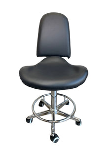 Hydraulic Stool High Backrest With Footrest