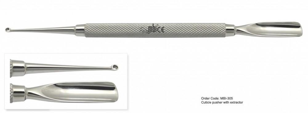 MBI-305 Cuticle Pusher With Extractor