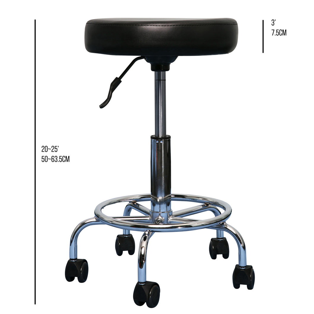 Hydraulic Circle Stool With Footrest 3