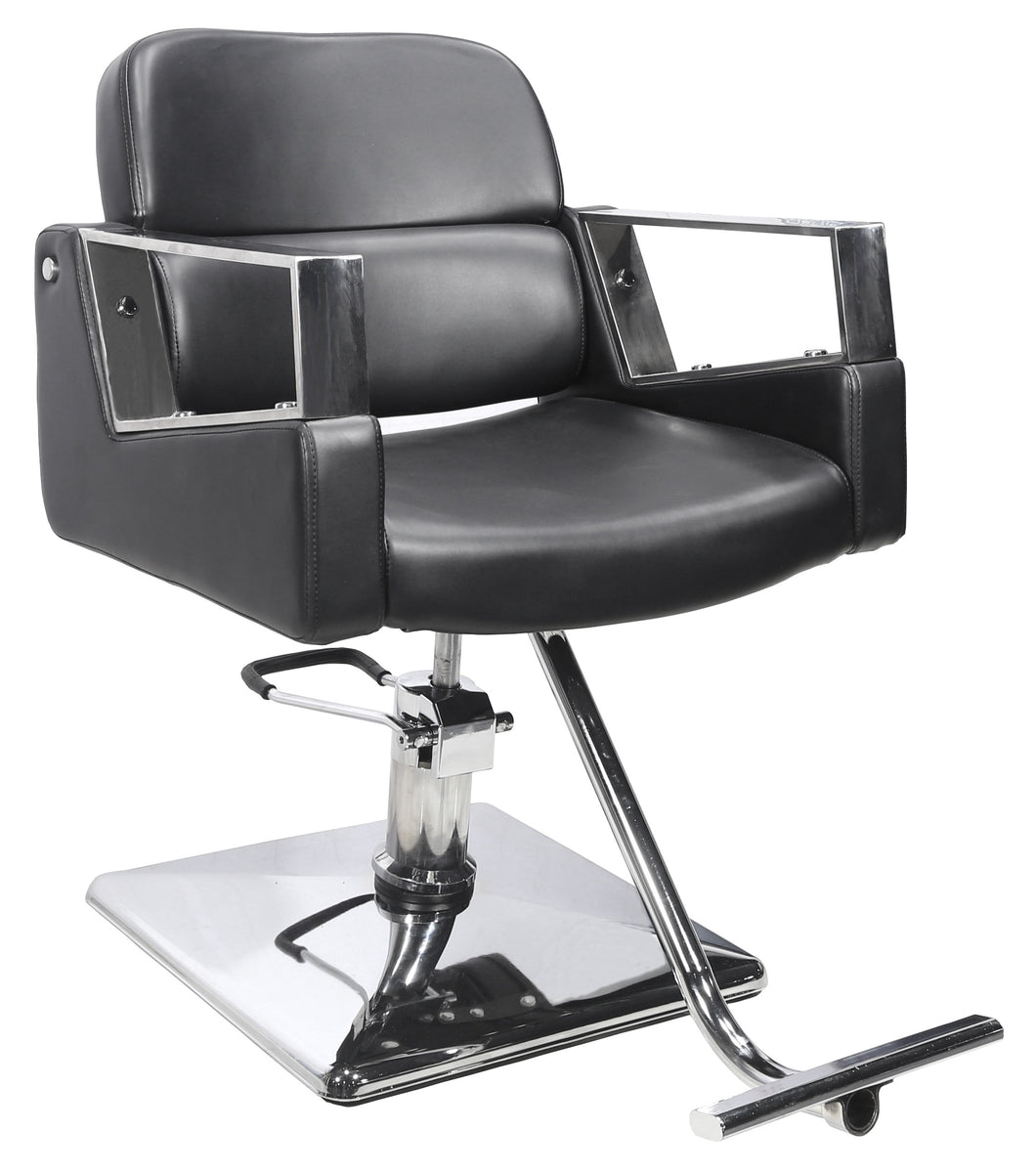 Model 642 Styling Chair With Modern Arm Rest With Extra Back Support