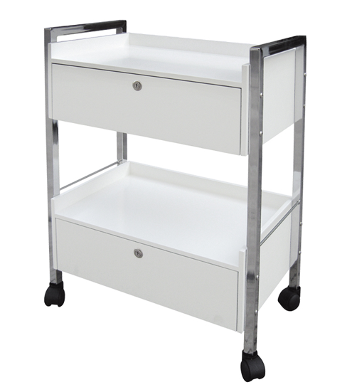 Trolley With Double Drawer With Locks